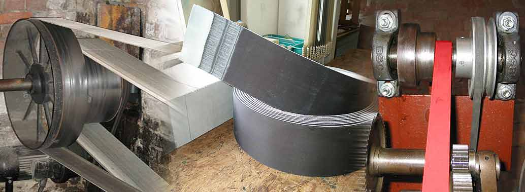 Leather Nylon Sandwich Belts, Leather Nylon Leather Belts, Leather Sandwich Belts, Industrial Machine Belts Supplier in Rajkot, Perfect leather belts consist of high quality chrome leather friction covers with polyamide sheet as the traction layer.